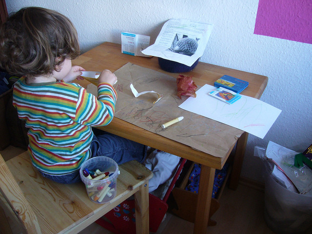 Kindertisch in Action